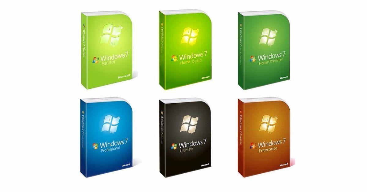 Cuales son las versiones de Windows 7