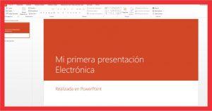 Aprende a crear tu primera presentación electrónica