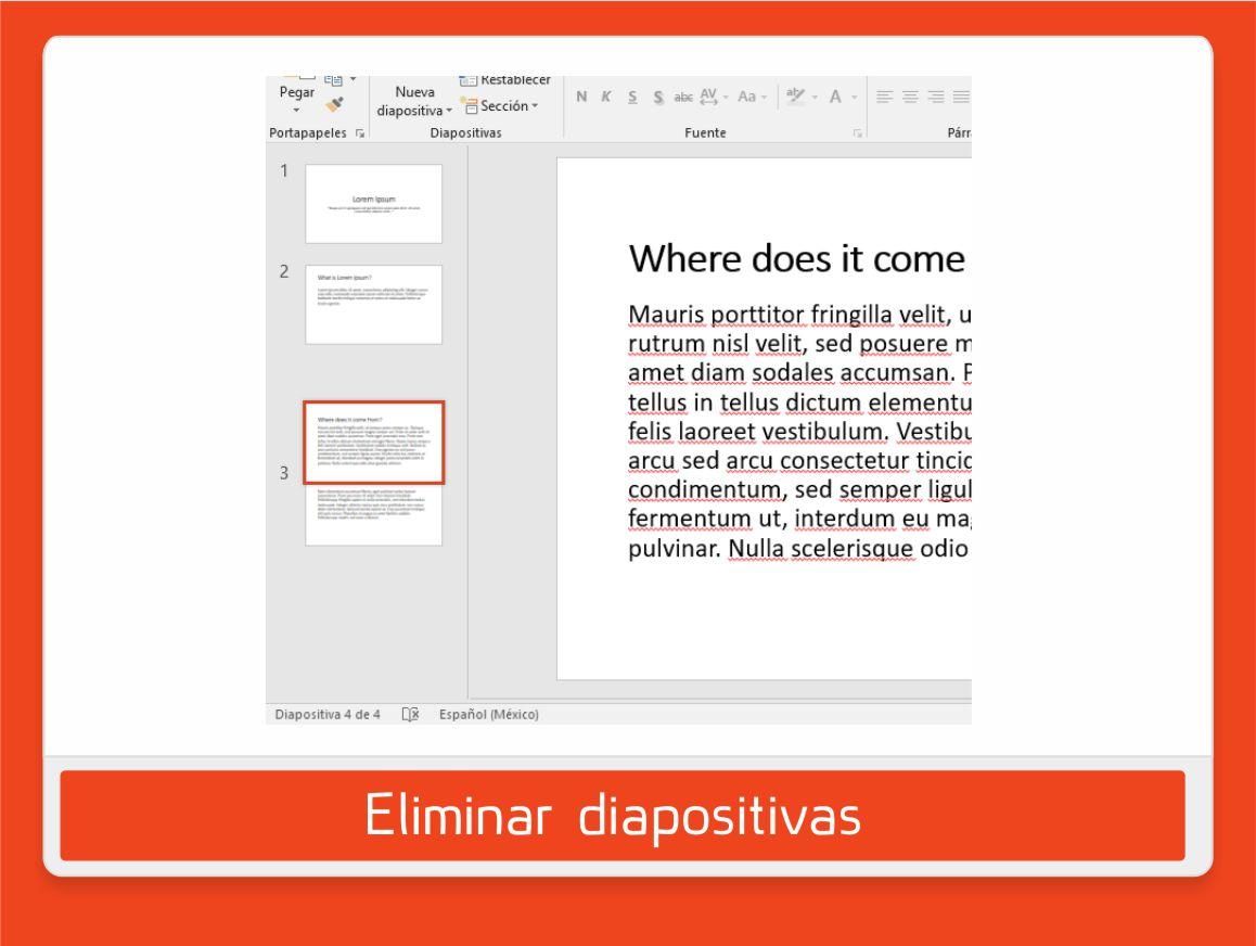 ordenar diapositivas