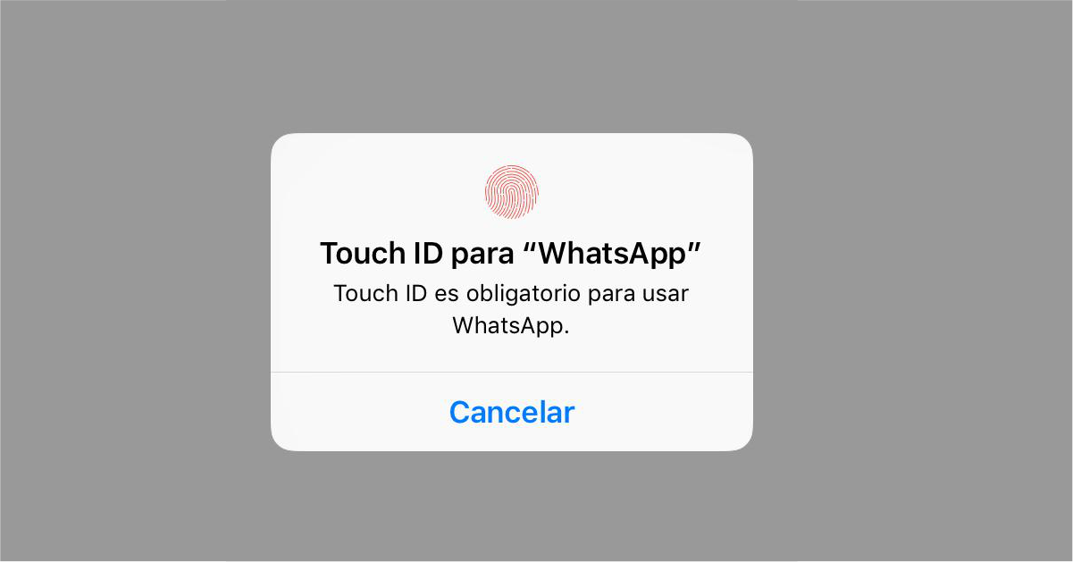 Bloquear whatsapp con huella en iphone