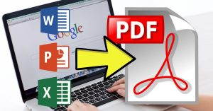 Convertir documentos Office a PDF