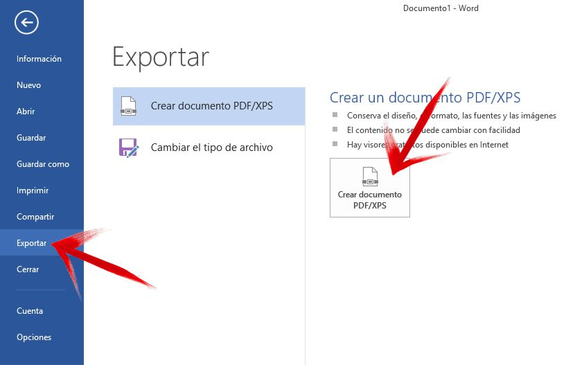 como convertir documentos Office a PDF