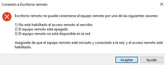 utilizar el escritorio remoto en Windows no acceder en la misma red con ip publica