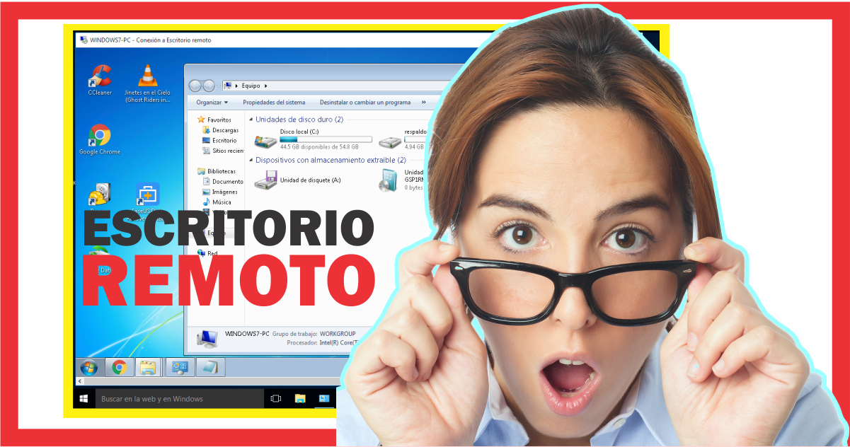 Como utilizar el escritorio remoto en Windows