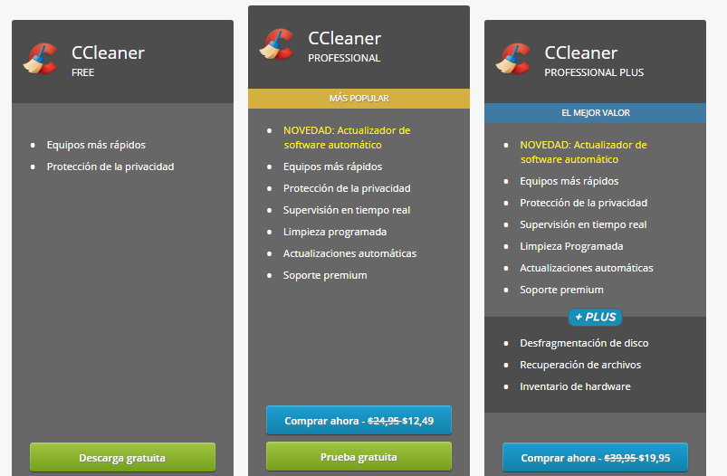 Realizar la limpieza y optimización del registro de Windows descarga CCleaner