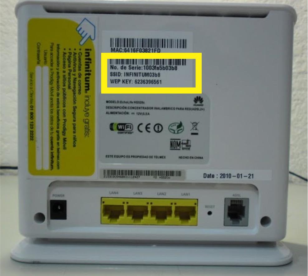 Tipos de seguridad Wifi WEP