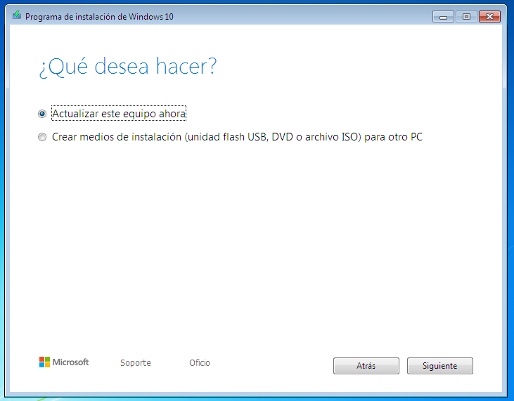 Windows 10 media creation tool creacion de medio