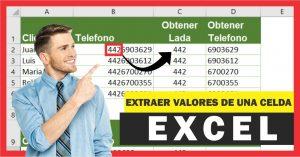 Extraer caracteres de una celda en Excel