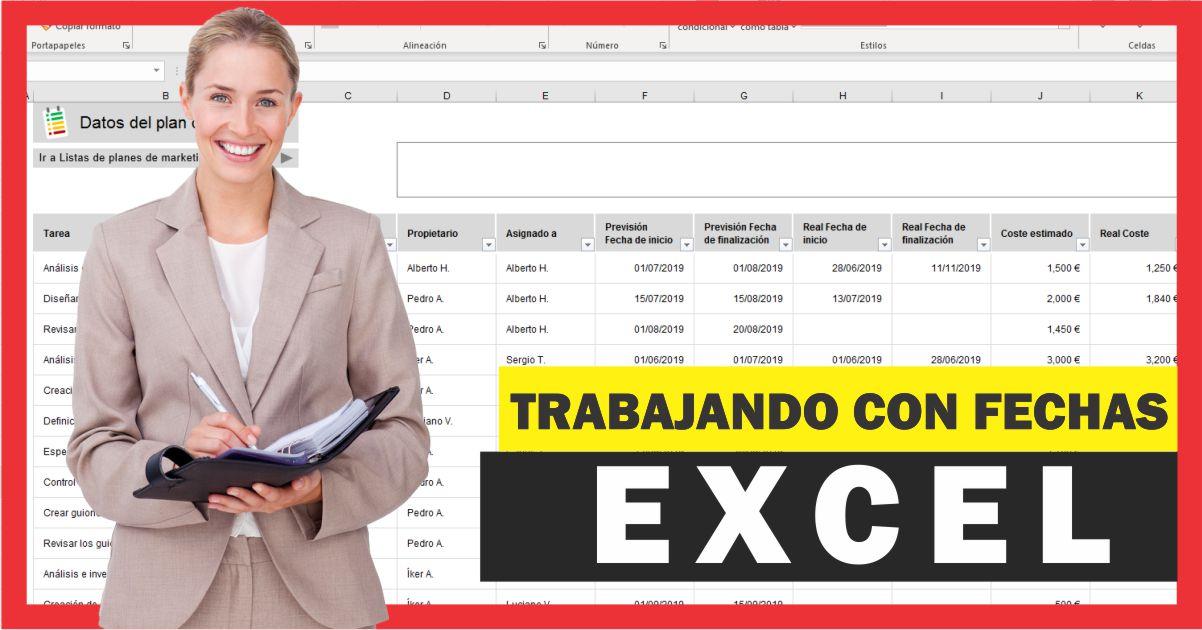 Funciones de fecha y hora en Excel