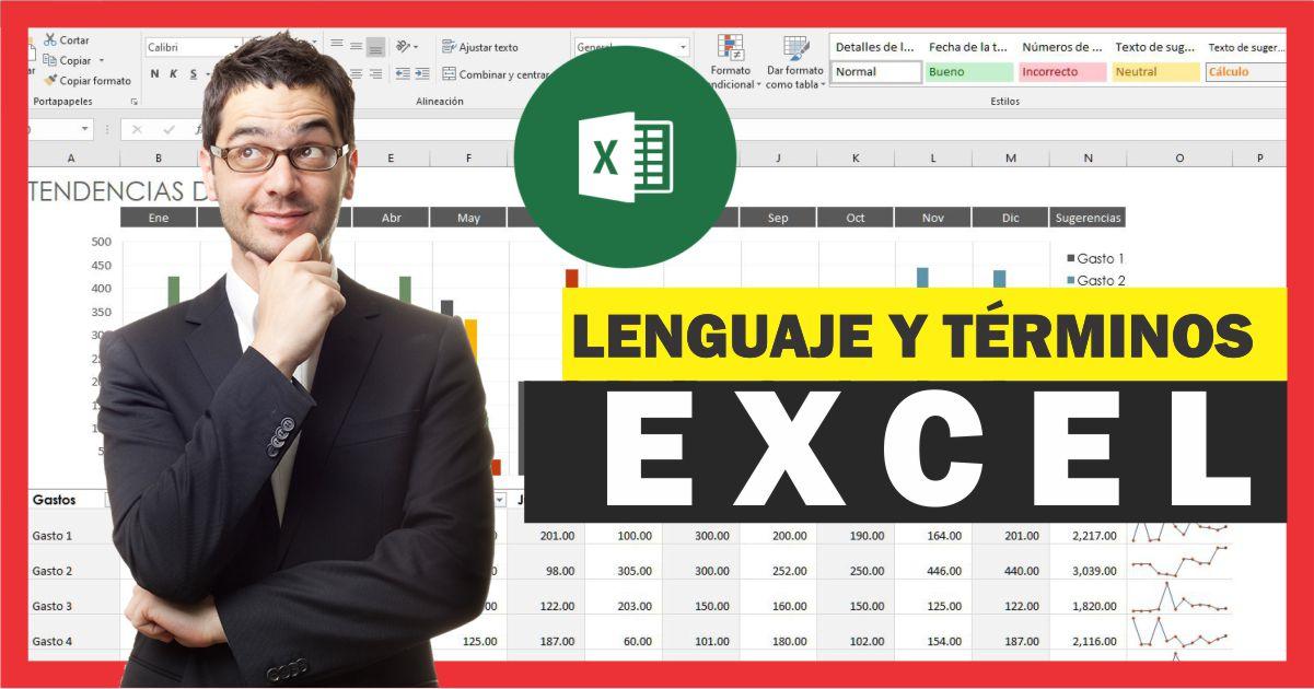 Lenguaje y términos utilizados en Excel