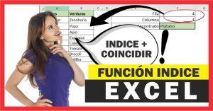 Función INDICE en Excel