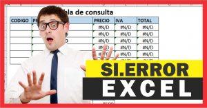 Función SI.ERROR en Excel – Ejemplos de uso